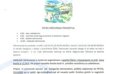 3.10.2020 DP ORIENTACIJSKI TEK 2020
