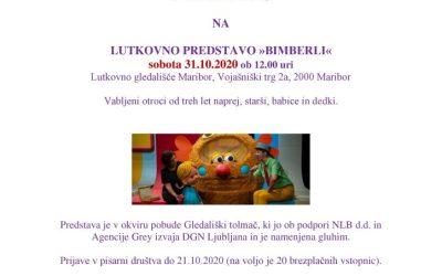 31.10.2020 Vabilo-Lutkovna predstava