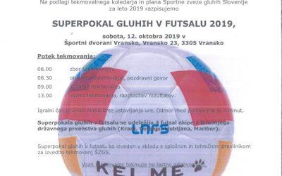 Vabilo superpokal futsal 2019