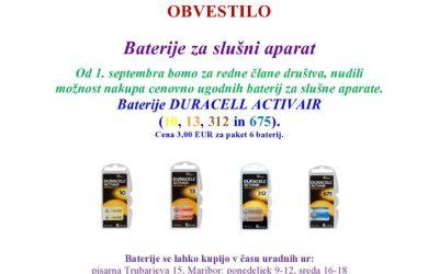 Baterije za slušni aparat