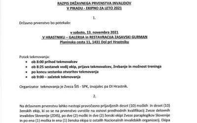 13.11.2021 Razpis DP invalidov pikado